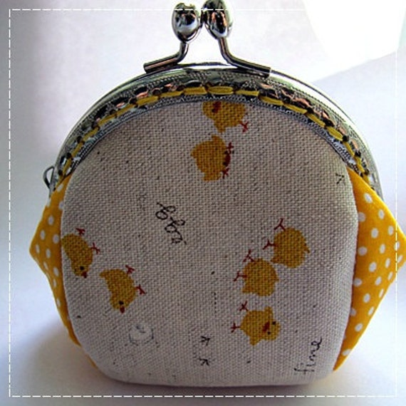 FREE SHIPPING - Handmade Coin Purse Little Chick