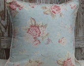 Seaside cottage floral pillow slipcover