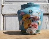 very pretty hand painted cookie jar...