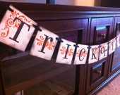 SALE FREE Shipping (US) Trick Or Treat Garland Halloween Banner For Halloween or  Fall Decoration