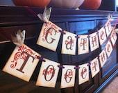 Thanksgiving Decoration Gather Together Garland Thanksgiving Banner / Sign For Thanksgiving and Fall Decoration