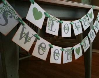 LOVE SWEET LOVE Wedding Banner | Love Wedding Sign | Wedding Decoration | Bridal Shower Banner | Bridal Shower Sign and Decoration