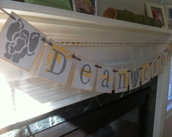 Custom Boy or Girl Name Banner With Your Childs Name/ Boy or Girl  Elephant Baby Shower Banner