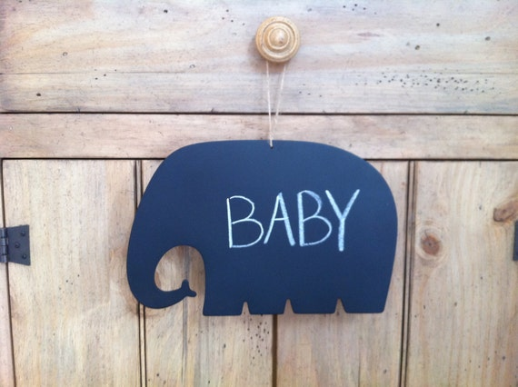 Elephant Chalkboard With Tie Perfect For Spring or Baby Shower Decoration/ Birthday Decoration