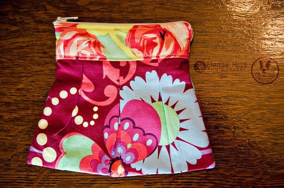 SALE SALE SALE Just What You Need Clutch: Wine Rose and Periwinkle