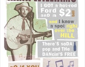 Hank Williams - Hey Good Lookin - Country Music Poster- 11x14 or 16x20 print - Country Music quotes