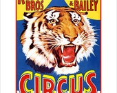 Circus Poster - Ringling Brothers Circus Tiger - Circus print