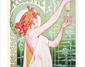 Absinthe Poster - Vintage French print  - Absinthe Robette  -  Art Nouveau poster