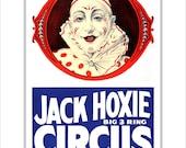 Circus Poster - Jack Hoxie Circus - 11x14 or 16x20 -  Circus Print