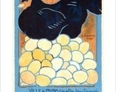 """French wall art - The French Hen - 11""""x14"""" or 16""""x20"""" -  Vintage French poster"""