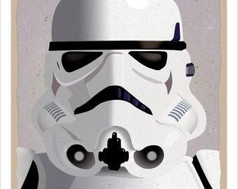 Starwars Stormtrooper Poster- 8x10, 11x14 or 16x20 Print - Star Wars print Starwars poster