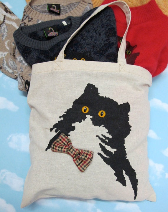 Handsome Kitty Tote Bag
