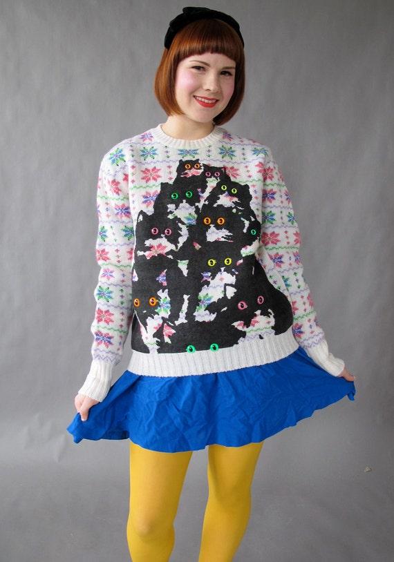 Rainbow Kitty Sweater