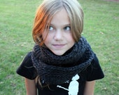 Cozy Circle Scarf in Charcoal