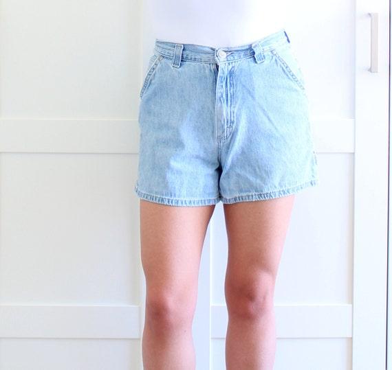Vintage Highwaisted Shorts, Lee Jeans Short Shorts, Waist High Denim Shorts S, size Small