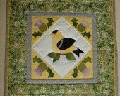Goldfinch and Thistle Wall Quilt 20% off for the Christmas season Coupon code is POSEYPETUNIA2010