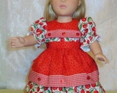 Doll dress with cherry print