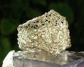 Crochet Wire Ring Sterling Silver