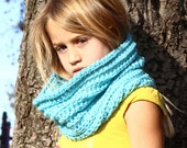 Childrens Light Turquoise Cowl Scarf-Neck Warmer