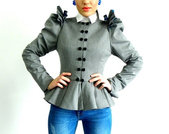 On sale-Olga Jacket-Light grey-Size 38