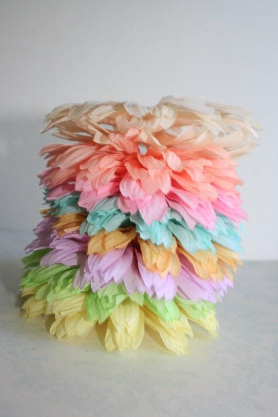 Silk Flower Petals Set of  40 DIY Silk Fabric Flower Petals 8 Shades COTTON CANDY