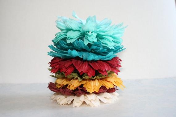 Silk Flower Petals Set of  40 DIY Silk Fabric Flower Petals 8 Shades FALL HARVEST