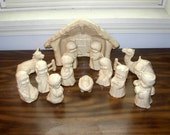 Nativity Set with Manger  -  16 pieces