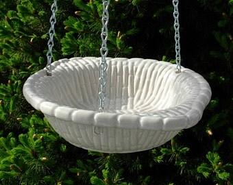 Hanging Bird Feeder  -  White
