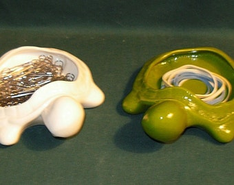 Turtle ring holder / soap dish / office supply holder