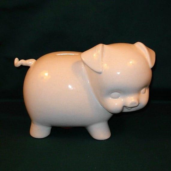 Large ceramic piggy bank vintage design by ceramicsbylisa - Piggy bank without stopper ...