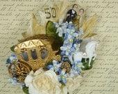 50th Anniversary Decoration Corsage Golden Journey Vintage Style