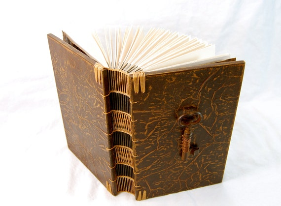 unearthed journal steampunk wood book