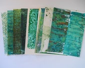 Hand printed papers, set of 8