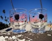Vintage 50's adorable silhouette juice glasses