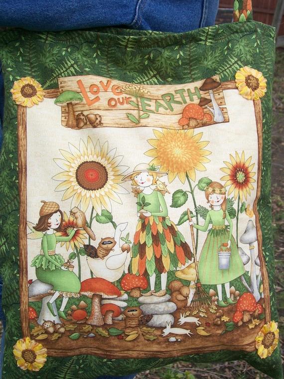 Go Green Tote Bag - Debbie Mumm Love Our Earth