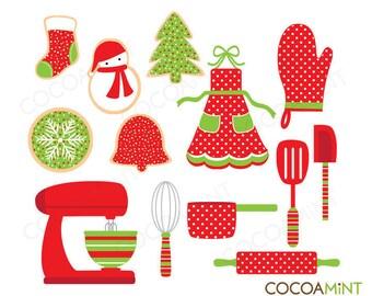 Baking Christmas Cookies Clip Art