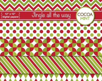 Jingle all the Way Digital Papers
