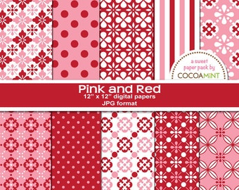 Pink and Red Digital Papers