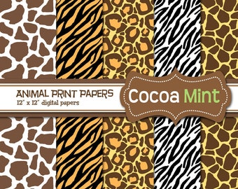 Animal Print Digital Papers