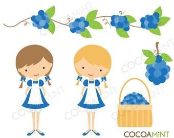 Blueberry Girl Clip Art