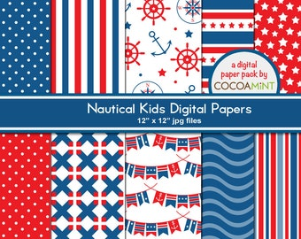 Nautical Kids Digital Paper