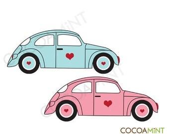 VW Love Bugs Clip Art