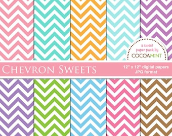 Chevron Sweets Digital Paper Pack