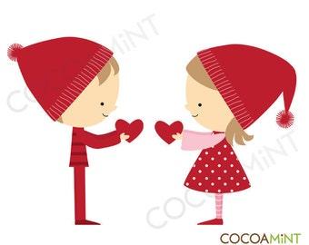 Valentine Kids Clip Art