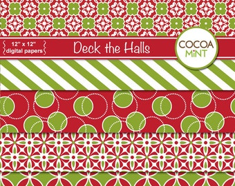 Deck the Halls Digital Papers