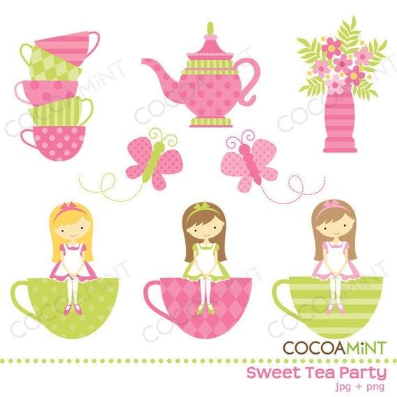 clipart tea party invitation - photo #17