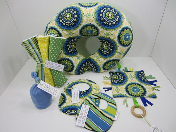 Nursery Set, Solar Flair in Indigo and Lime