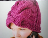 PDF Pattern Chunky Cabled Toque women hat