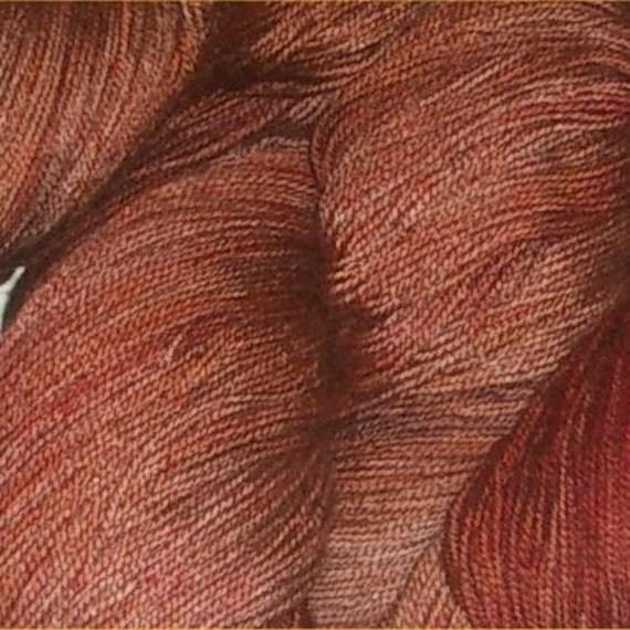 Laceweight Wool/Silk Earthy Brown