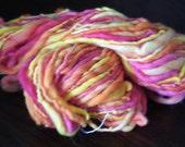 Handspun, Hand dyed novelty yarn